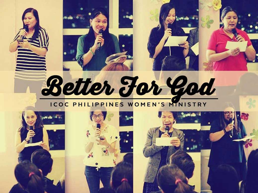ICOC Philippines' Women's Ministry: Getting Better for God!